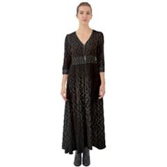Gray Plaid Black Button Up Boho Maxi Dress