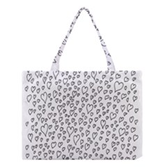 Heart Doddle Medium Tote Bag by Mariart