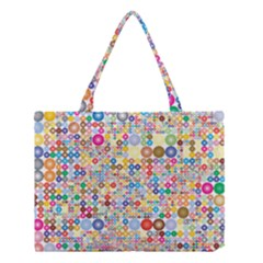Circle Rainbow Polka Dots Medium Tote Bag by Mariart