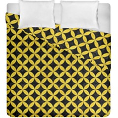 Circles3 Black Marble & Yellow Colored Pencil (r) Duvet Cover Double Side (king Size) by trendistuff