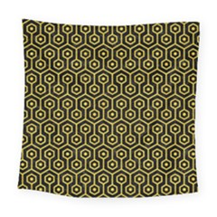 Hexagon1 Black Marble & Yellow Colored Pencil (r) Square Tapestry (large) by trendistuff