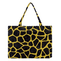 Skin1 Black Marble & Yellow Colored Pencil Medium Tote Bag by trendistuff