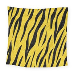 Skin3 Black Marble & Yellow Colored Pencil Square Tapestry (large)