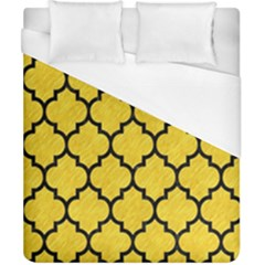Tile1 Black Marble & Yellow Colored Pencil Duvet Cover (california King Size) by trendistuff