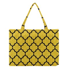 Tile1 Black Marble & Yellow Colored Pencil Medium Tote Bag by trendistuff