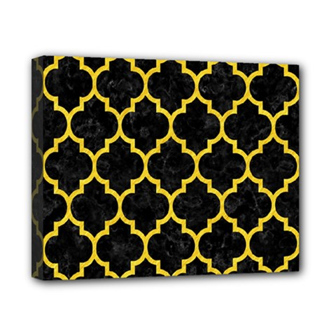 Tile1 Black Marble & Yellow Colored Pencil (r) Canvas 10  X 8  by trendistuff