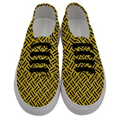 Woven2 Black Marble & Yellow Colored Pencil Men s Classic Low Top Sneakers