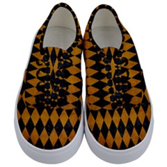 Diamond1 Black Marble & Yellow Grunge Kids  Classic Low Top Sneakers