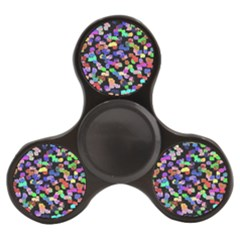 Colorful Paint Strokes On A Black Background                          Finger Spinner by LalyLauraFLM