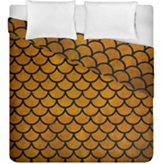 Scales1 Black Marble & Yellow Grunge Duvet Cover Double Side (king Size) by trendistuff
