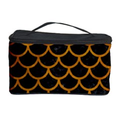 Scales1 Black Marble & Yellow Grunge (r) Cosmetic Storage Case by trendistuff