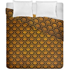 Scales2 Black Marble & Yellow Grunge Duvet Cover Double Side (california King Size) by trendistuff
