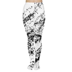 Ink Splatter Texture Women s Tights by Mariart
