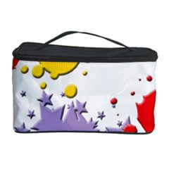 Paint Splash Rainbow Star Cosmetic Storage Case by Mariart
