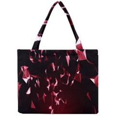 Lying Red Triangle Particles Dark Motion Mini Tote Bag by Mariart