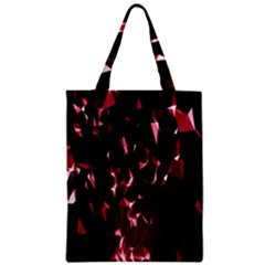 Lying Red Triangle Particles Dark Motion Classic Tote Bag by Mariart
