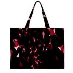 Lying Red Triangle Particles Dark Motion Zipper Mini Tote Bag by Mariart