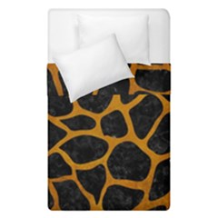 Skin1 Black Marble & Yellow Grunge Duvet Cover Double Side (single Size) by trendistuff