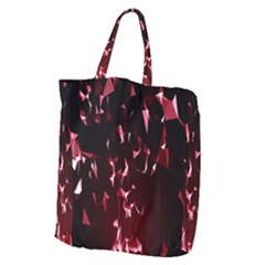 Lying Red Triangle Particles Dark Motion Giant Grocery Zipper Tote by Mariart