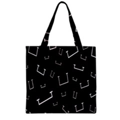 Pit White Black Sign Pattern Grocery Tote Bag by Mariart