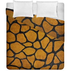 Skin1 Black Marble & Yellow Grunge (r) Duvet Cover Double Side (california King Size) by trendistuff