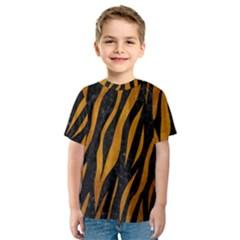 Skin3 Black Marble & Yellow Grunge (r) Kids  Sport Mesh Tee