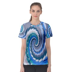 Psycho Hole Chevron Wave Seamless Women s Sport Mesh Tee by Mariart