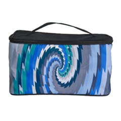Psycho Hole Chevron Wave Seamless Cosmetic Storage Case by Mariart