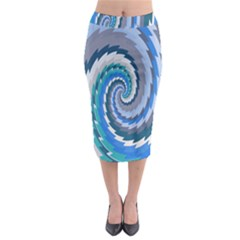 Psycho Hole Chevron Wave Seamless Midi Pencil Skirt by Mariart