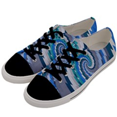 Psycho Hole Chevron Wave Seamless Men s Low Top Canvas Sneakers by Mariart