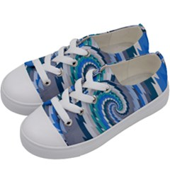 Psycho Hole Chevron Wave Seamless Kids  Low Top Canvas Sneakers by Mariart
