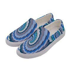 Psycho Hole Chevron Wave Seamless Women s Canvas Slip Ons by Mariart