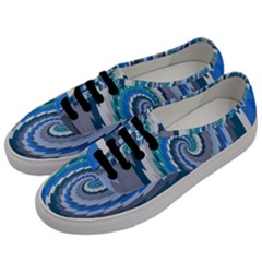 Psycho Hole Chevron Wave Seamless Men s Classic Low Top Sneakers by Mariart