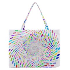 Prismatic Abstract Rainbow Zipper Medium Tote Bag by Mariart