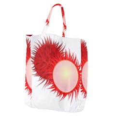 Rambutan Fruit Red Sweet Giant Grocery Zipper Tote by Mariart