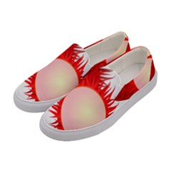 Rambutan Fruit Red Sweet Women s Canvas Slip Ons by Mariart