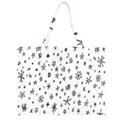 Star Doodle Zipper Large Tote Bag by Mariart