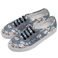 Star Flower Grey Blue Beauty Sexy Women s Classic Low Top Sneakers by Mariart