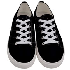 Stripes Black White Minimalist Line Women s Low Top Canvas Sneakers
