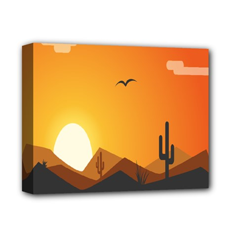 Sunset Natural Sky Deluxe Canvas 14  X 11  by Mariart