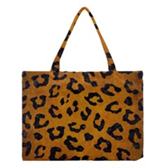 Skin5 Black Marble & Yellow Grunge (r) Medium Tote Bag by trendistuff