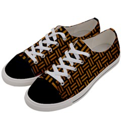 Woven1 Black Marble & Yellow Grunge (r) Women s Low Top Canvas Sneakers by trendistuff