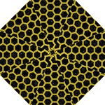 HEXAGON2 BLACK MARBLE & YELLOW LEATHER (R) Golf Umbrellas