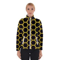 Hexagon2 Black Marble & Yellow Leather (r) Winterwear by trendistuff