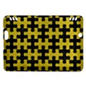PUZZLE1 BLACK MARBLE & YELLOW LEATHER Kindle Fire HDX Hardshell Case View1