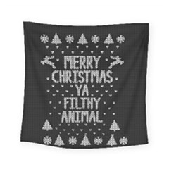 Ugly Christmas Sweater Square Tapestry (small) by Valentinaart