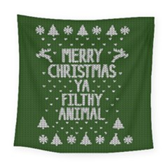 Ugly Christmas Sweater Square Tapestry (large) by Valentinaart