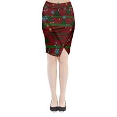 Ugly Christmas Sweater Midi Wrap Pencil Skirt