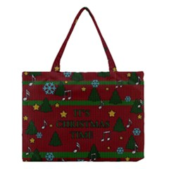 Ugly Christmas Sweater Medium Tote Bag by Valentinaart