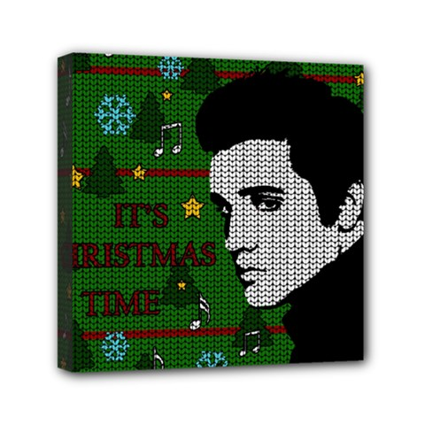 Elvis Presley   Christmas Mini Canvas 6  X 6  by Valentinaart